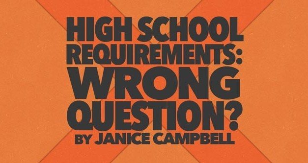 High School Requirements: The Wrong Question?