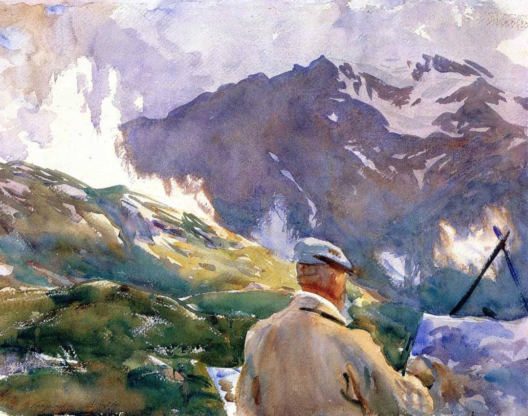 Sargent's Artist in the Simplon