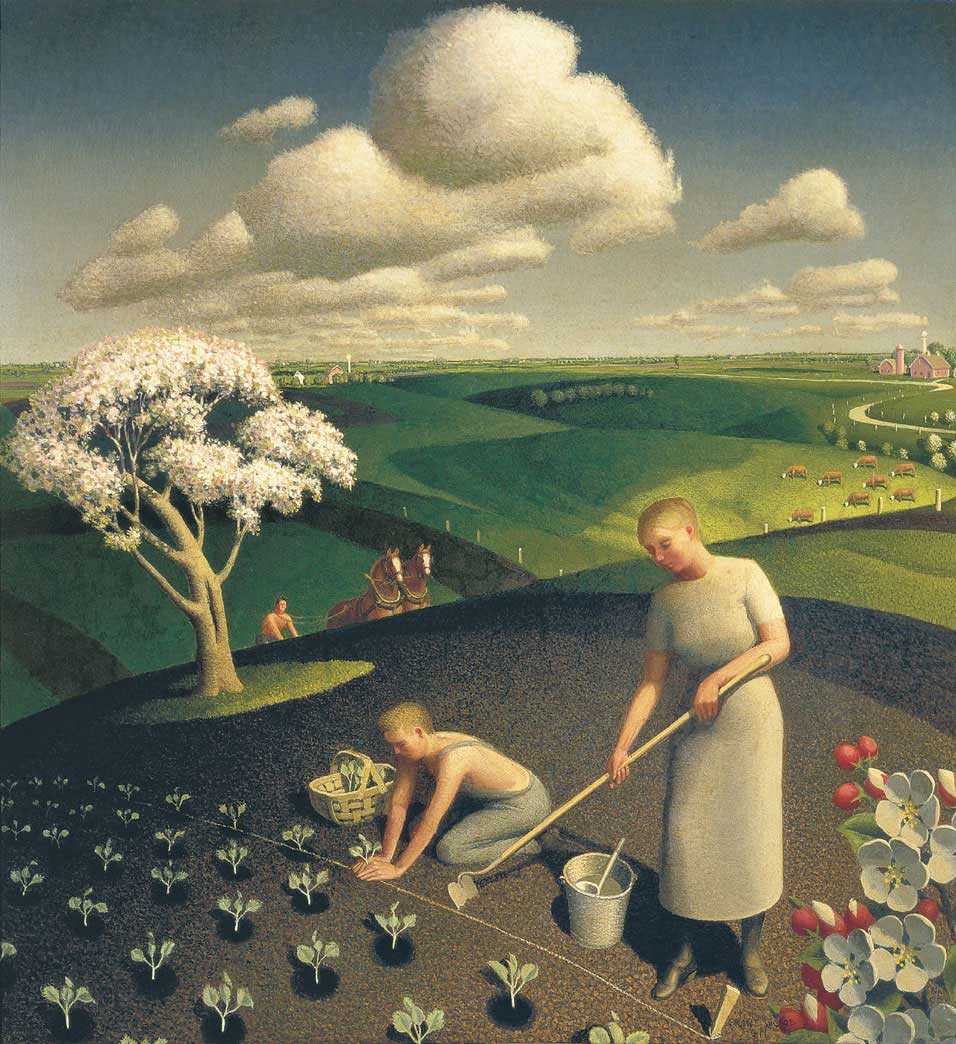 Grant Wood's Spring