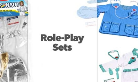 Role Play Sets: Astronaut, Doctor, and Veterinarian