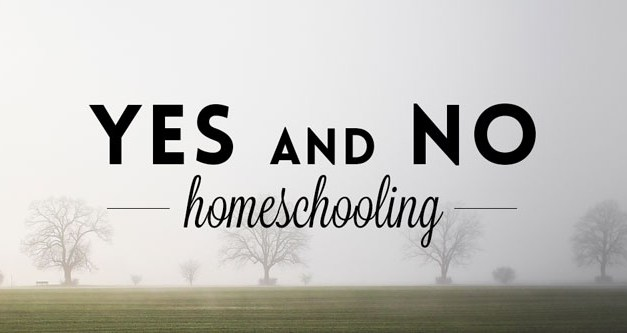 Yes and No Homeschooling