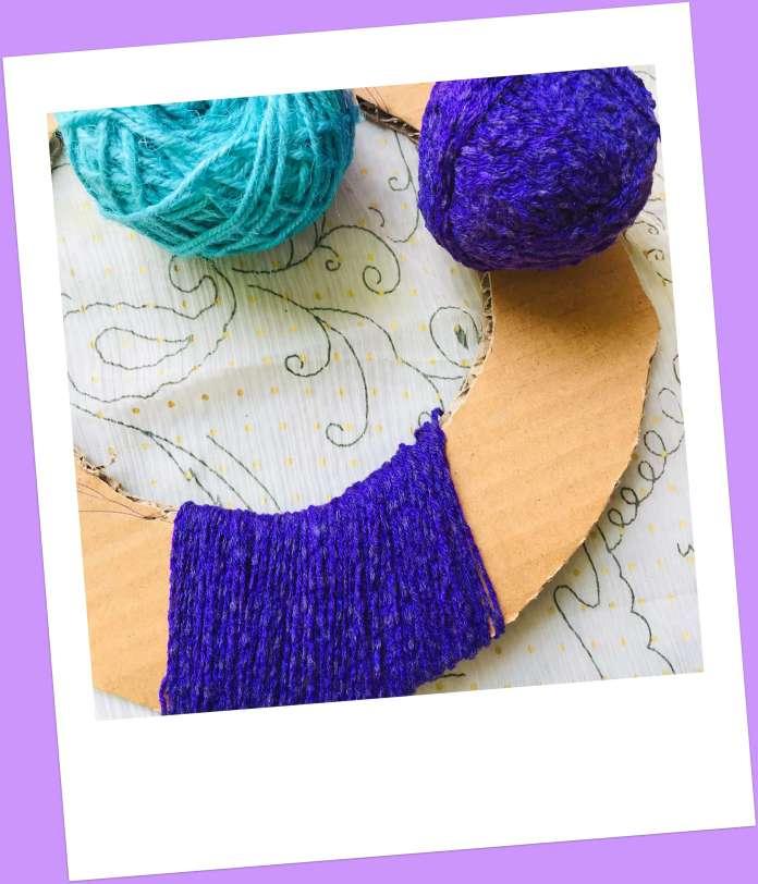 string yarn on doughnut