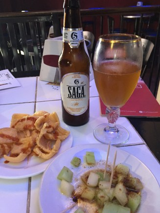 Beers often come with free snacks