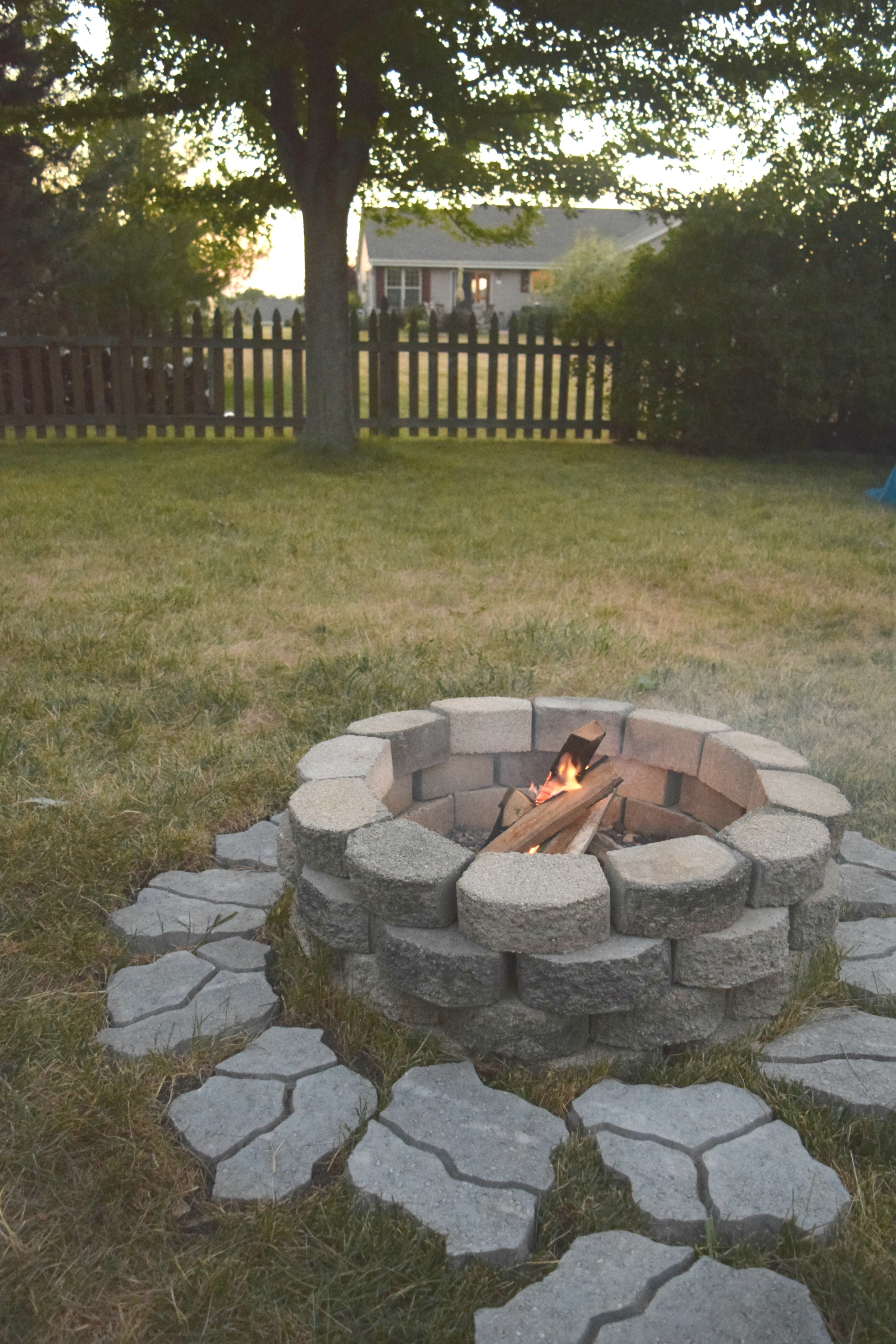 DIY fire pit for the backyard • Our House Now a Home on Pavers Patio With Fire Pit id=88639