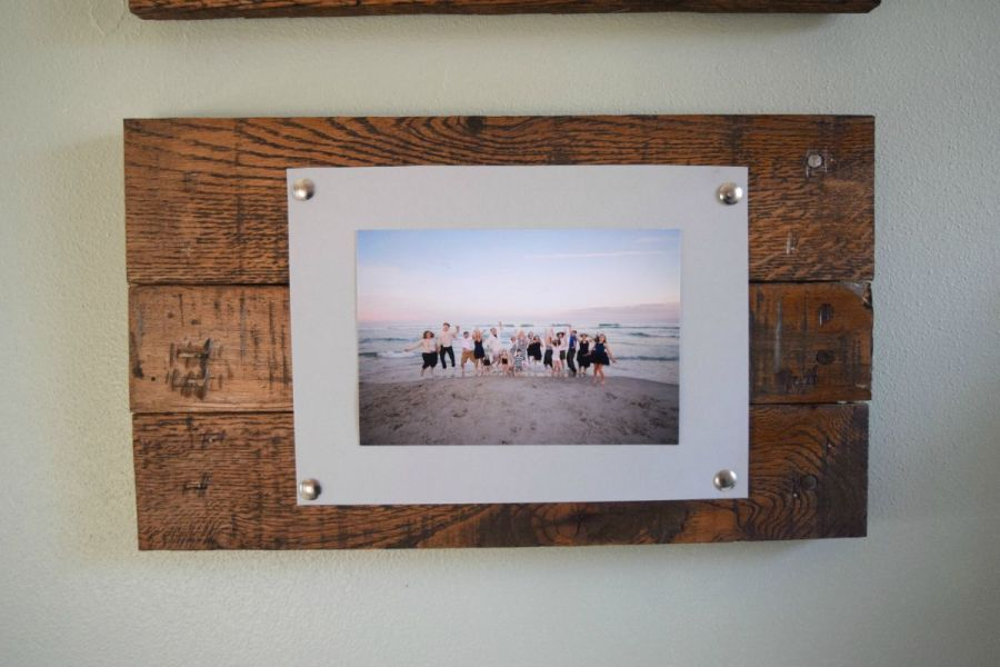 Easy to make picture frame and wall display  bringing rustic and     DIY wood picture frame