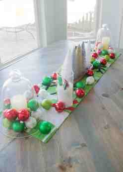 How To Make A Simple Holiday Dining Room Table Centerpiece Our House Now A Home