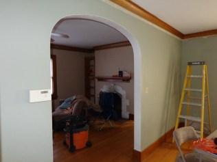 Living room wall before 12/5/15 weekend