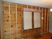 French door wall extended to 2x6