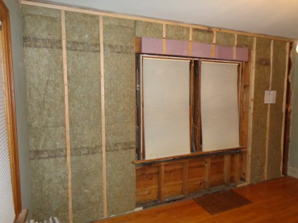 French door wall with R-23 insulation