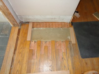Subfloor patched