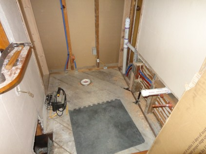 Powder room plumbing