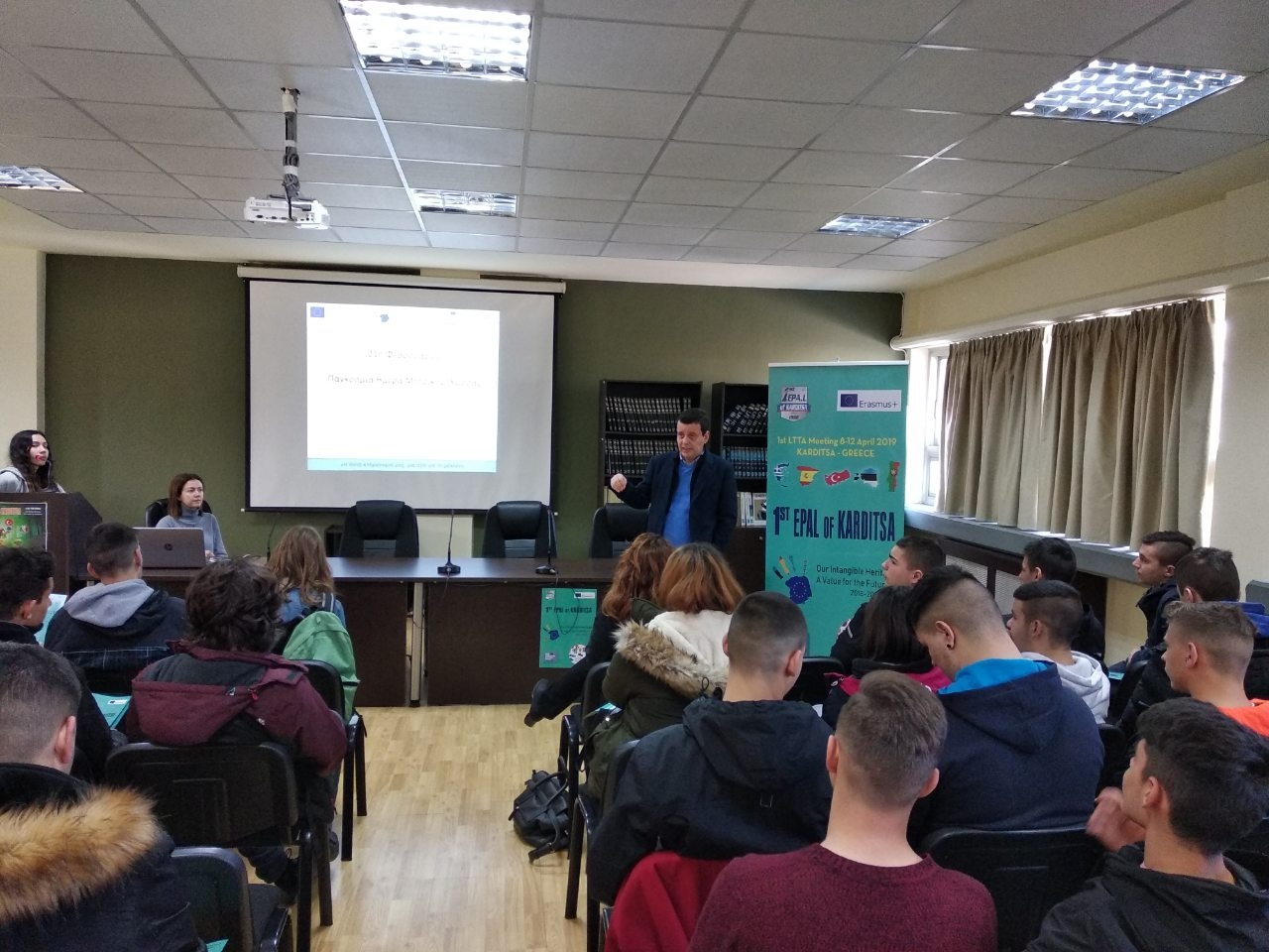 The students of the 1st EPAL Karditsa celebrated the International Mother Language Day.