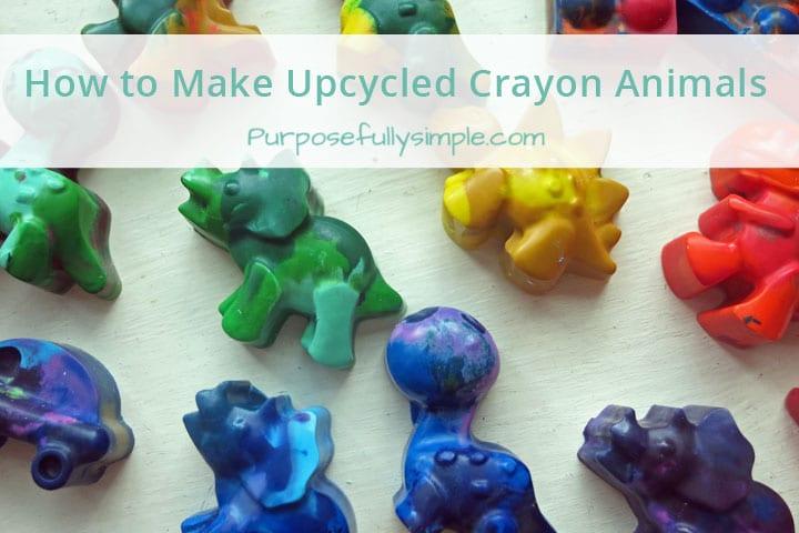 Melting Crayons: How to Make Upcycled Crayon Animals