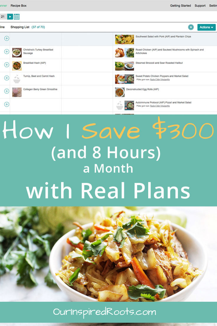 Spending too much on groceries? Real Plans is by far my favorite tool for trimming the grocery budget. It also saves me tons of time each week that I can use for more important things. #mealplanning #savingmoneyongroceries