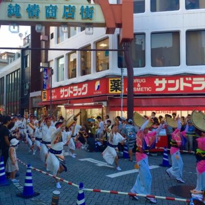 Famous summer festival in Koenji