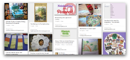 Creative Writing Pinterest Board