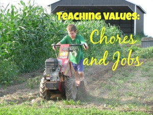 Teaching Values through Chores and Jobs – Day 4