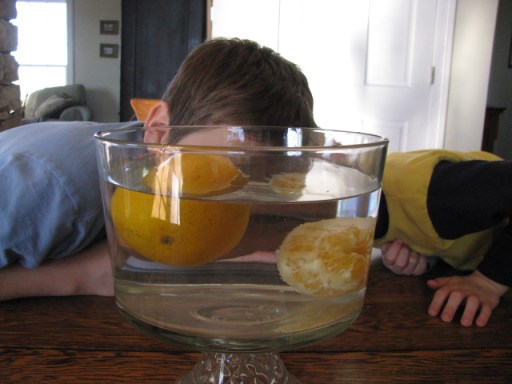 Use oranges and water to demonstrate the importance of girding ourselves with the Armor of God