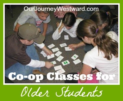 Co-op Classes for Older Students | Our Journey Westward