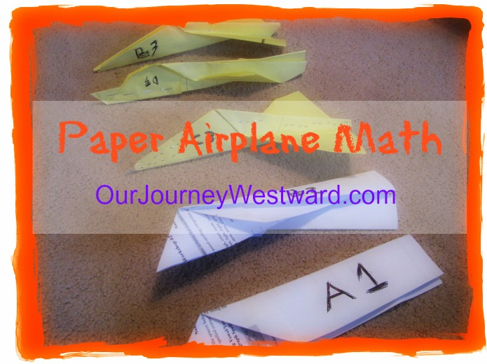 paper airplane graphing
