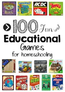 100 Educational Games for Homeschooling
