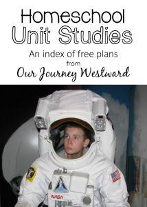 Our Journey Westward Unit Studies