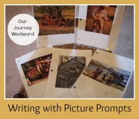 Using picture prompts stimulate students to write fantastic stories.
