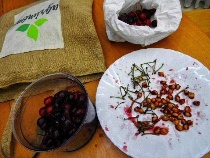 Pitting Cherries