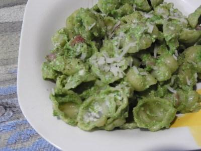 Orecchietti with Fresh Spinach Pesto & Ricotta