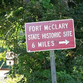 sign for fort mcclary