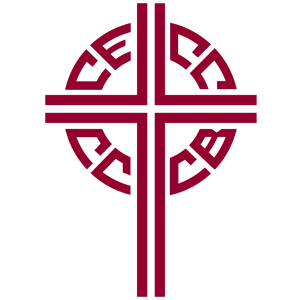 Our Lady of Peace - Catholic Church - Canadian Conference Catholic Bishops Logo - Innisfail, Alberta
