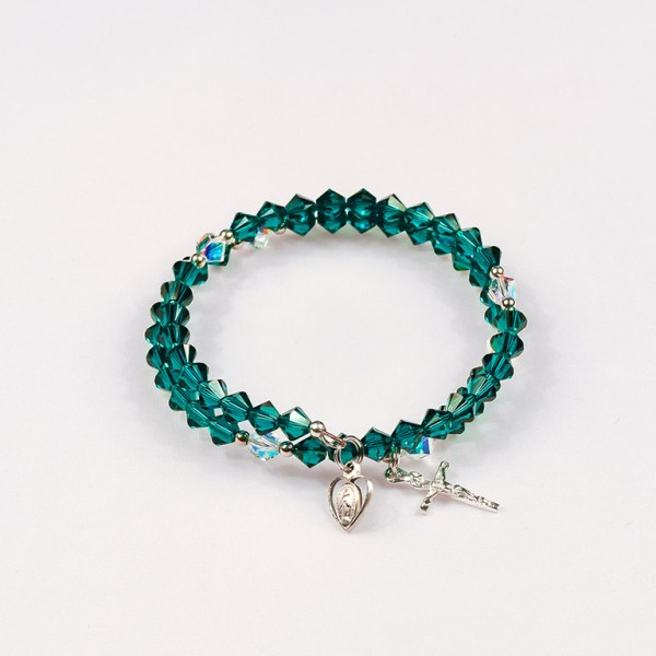 May Emerald Rosary Bracelet