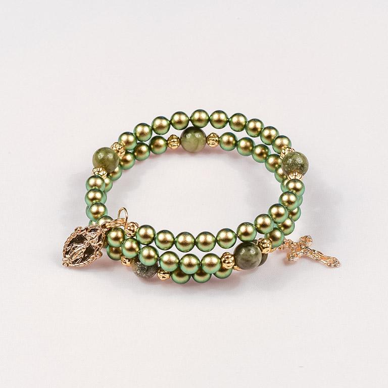 Pearls-Iridescent-Green-Saguaro-Jasper
