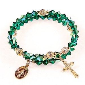 wearin of the green rosary bracelet