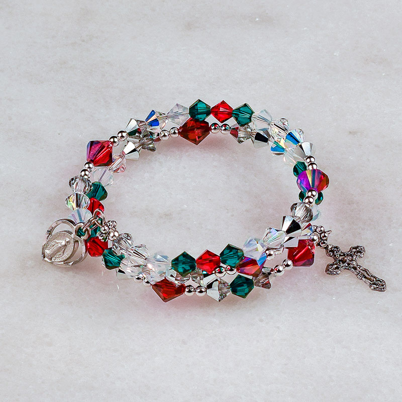 Christmas Lights Rosary Bracelet
