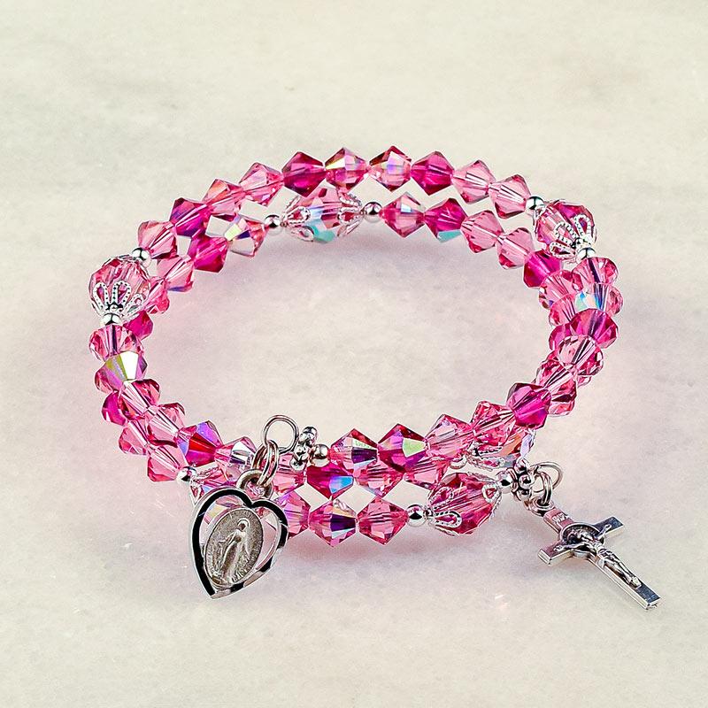 Rose of Sharon Rosary Bracelet