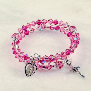 Rose of Sharon Rosary Bracelet