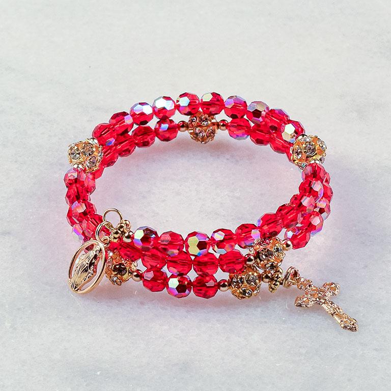 Christmas Elegance Rosary Bracelet