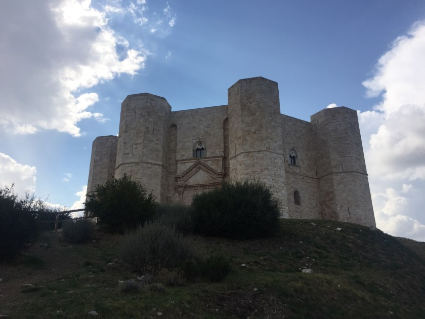 Our leap of faith view of Castel del Monte, Italy