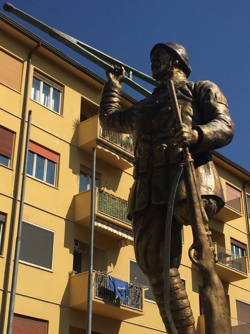 One legged soldier in Italy