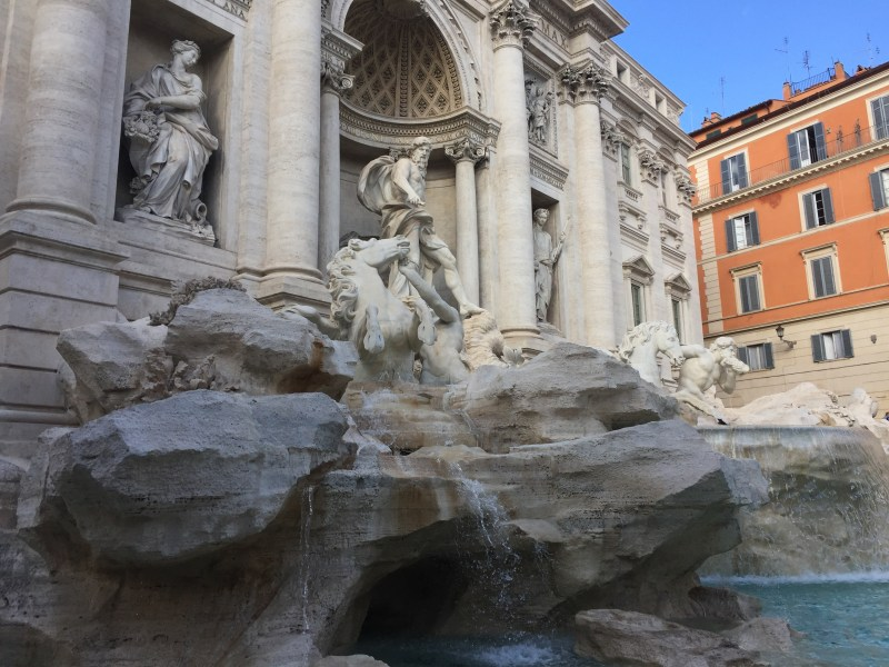 The Trevi Fountain in Rome by motorhome