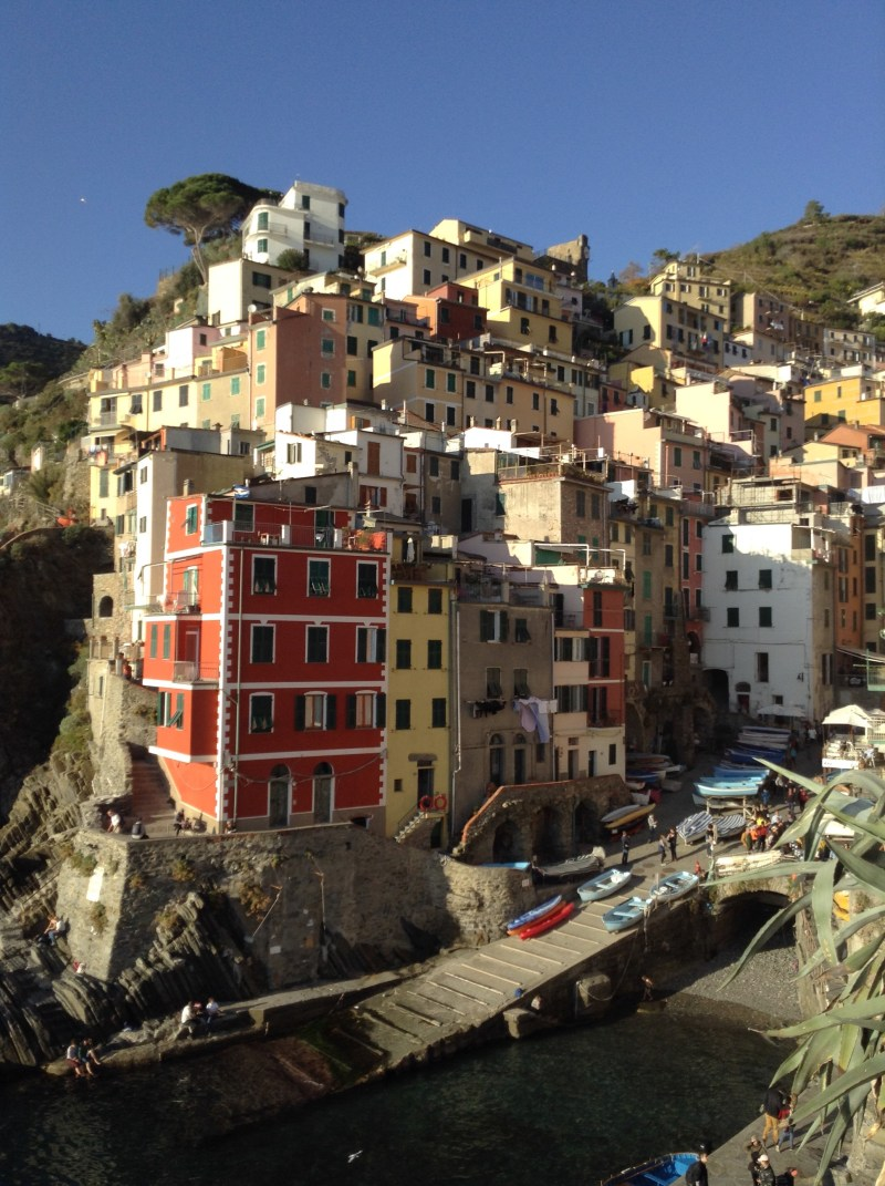 It's the cinque terre money shot - motorhomes in Europe