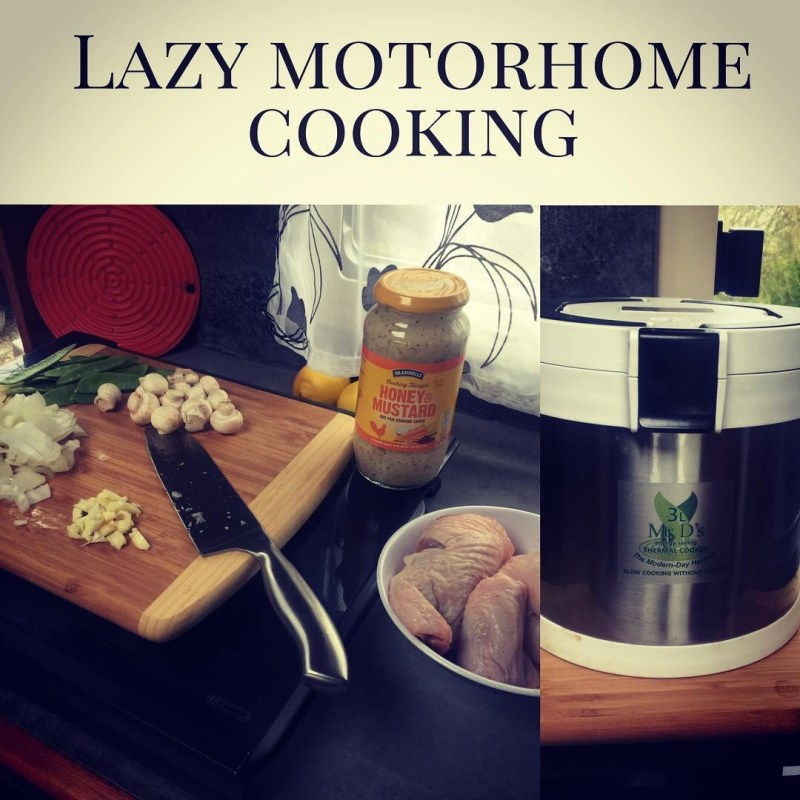 Thermal cooking, no power required for perfect lazy motorhome cooking