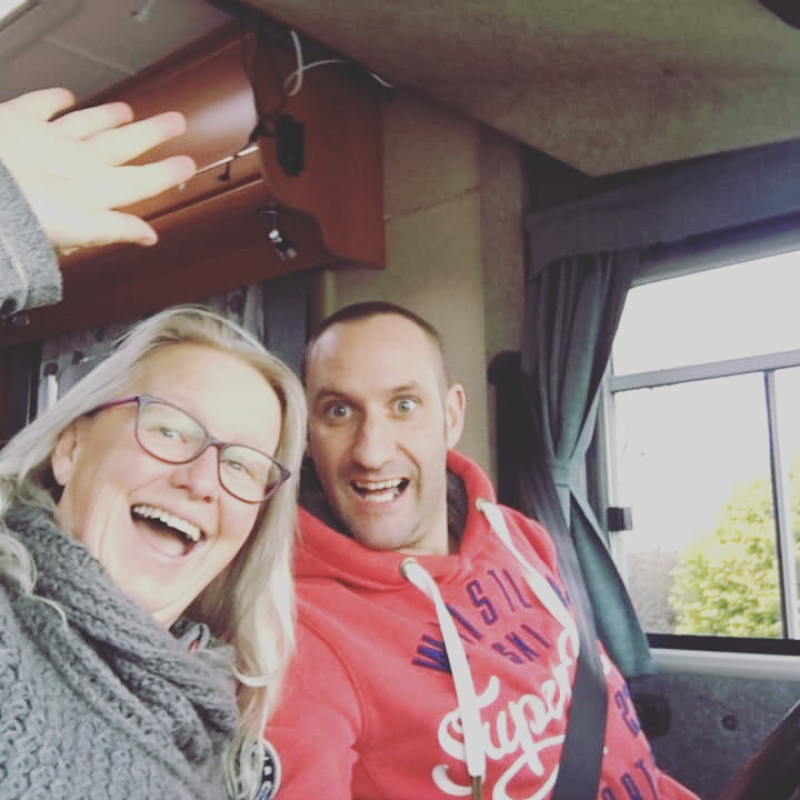 Must do motorhome selfie , come on we've got a ferry to catch !