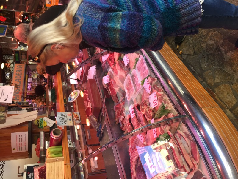 Meat meat and more meat - Food market heaven - our leap of faith eat there way around Barcelona- amazing travel blogs from two motorhome adventures