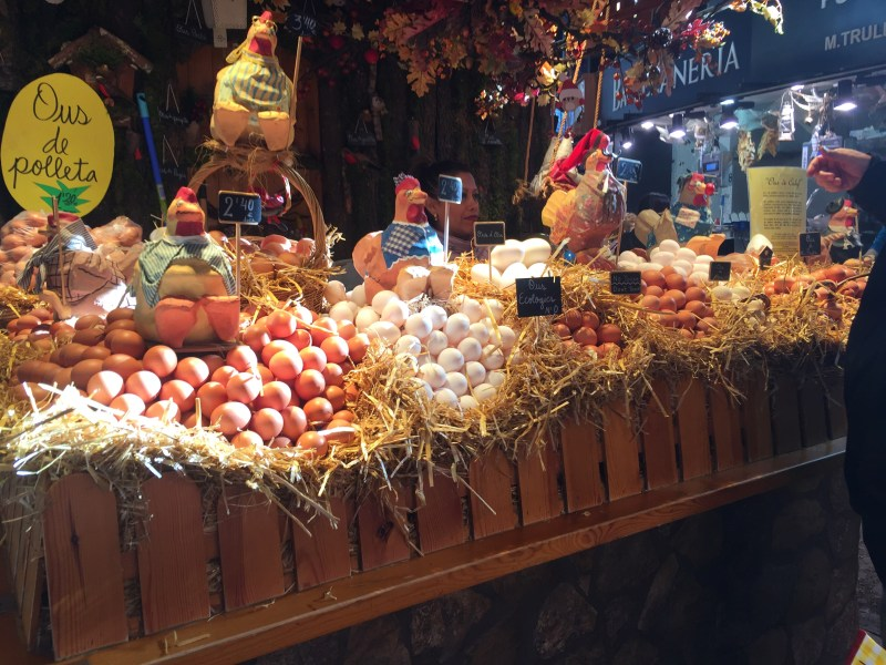 Eggs ! Food market heaven - our leap of faith eat there way around Barcelona- amazing travel blogs from two motorhome adventures