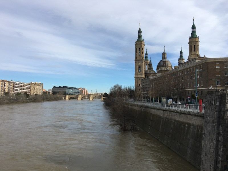 The Ebro is the second longest river in Spain and runs through Zaragoza