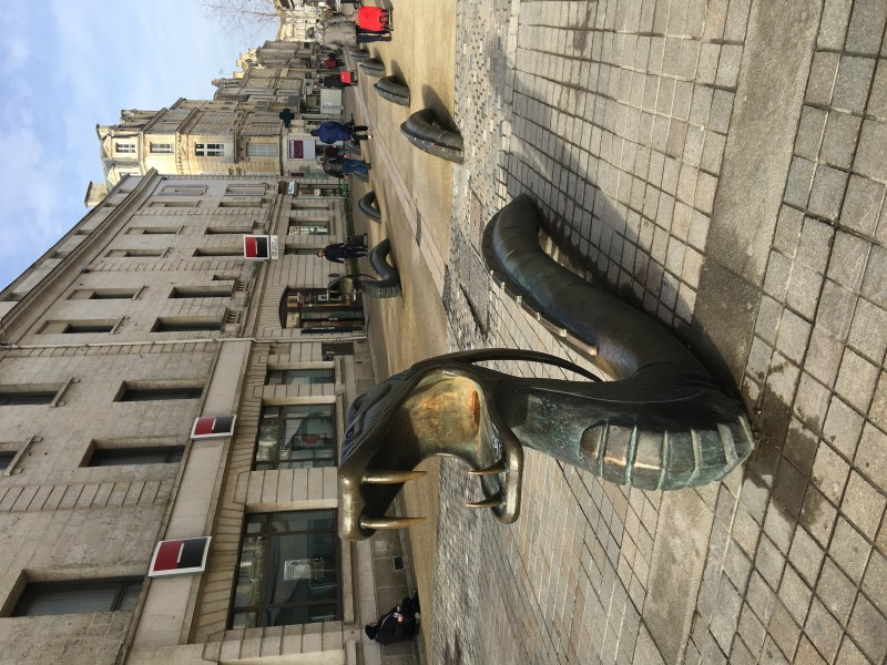 Ourleapoffaith visit niort, France in a motorhome - who knew that had dragons