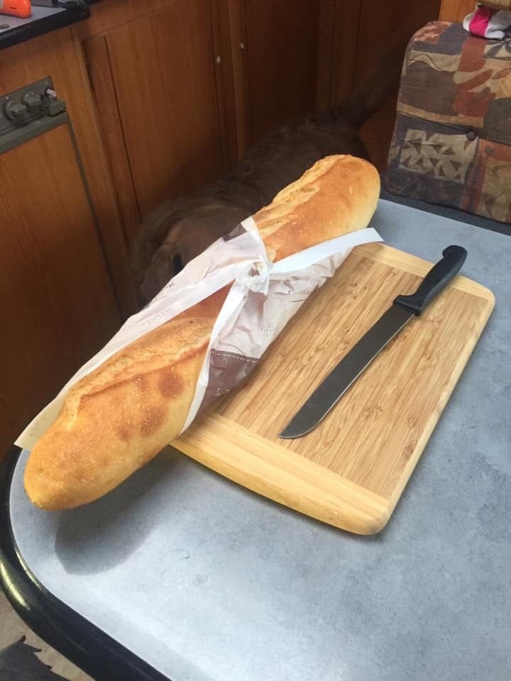 Ourleapoffaith eat amazing greasy French bread and stay in a beautiful aire !