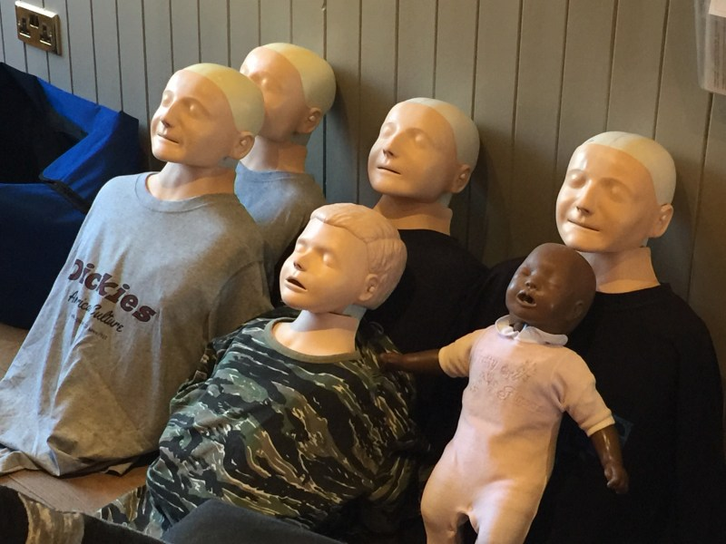 First aid for dummies or is that first aid dummies- ourleapoffaith are once again first aid trained